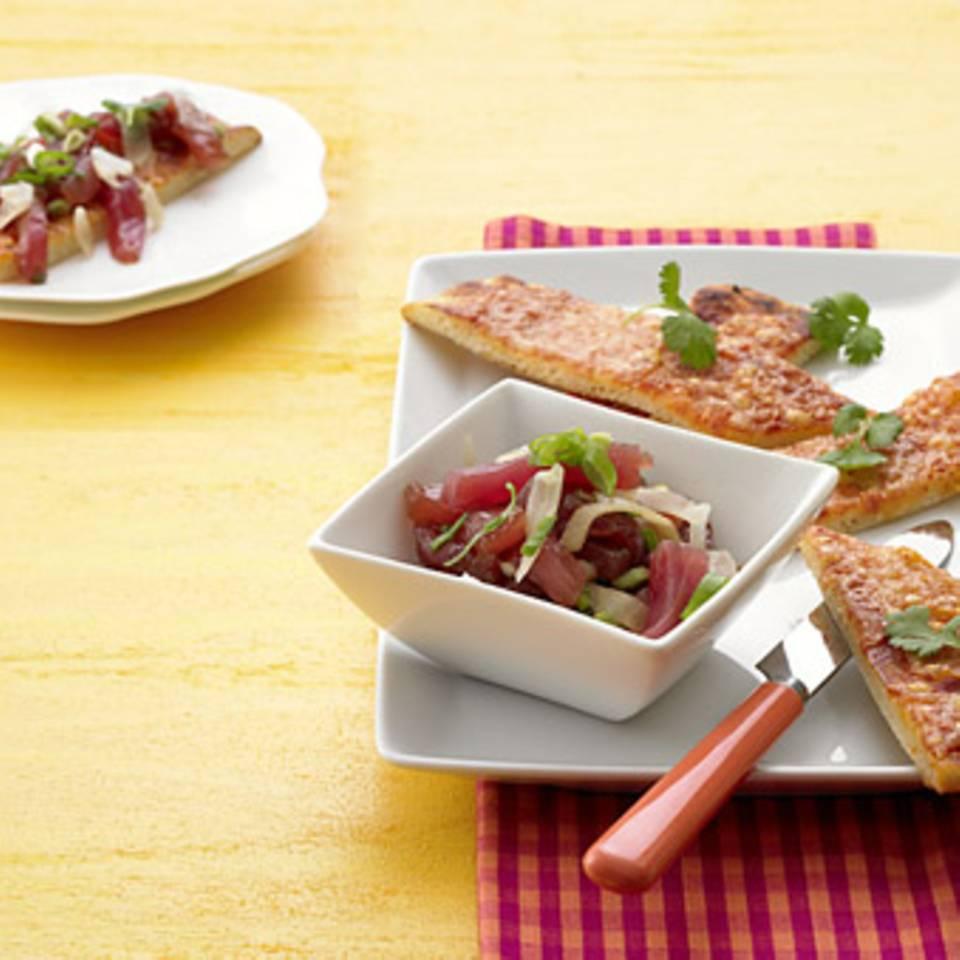 Sashimi-Pizza Rezept
