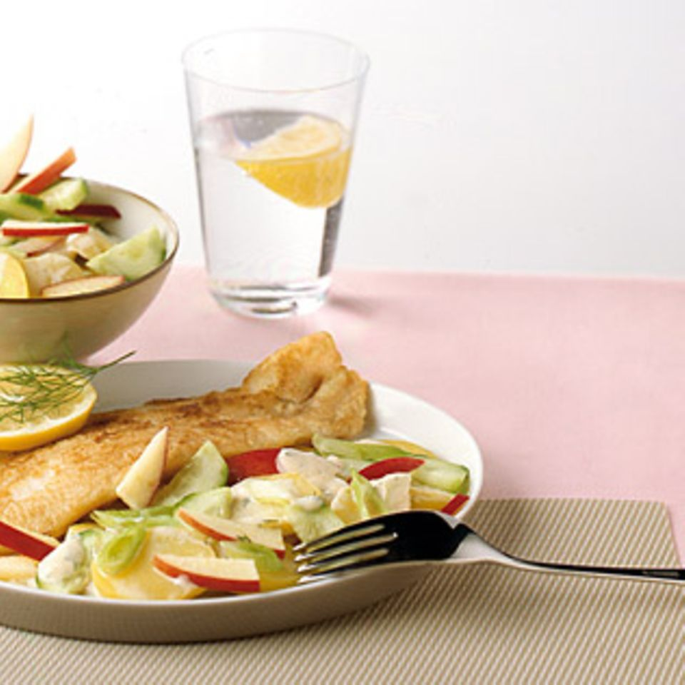 Seelachs mit Kartoffelsalat
