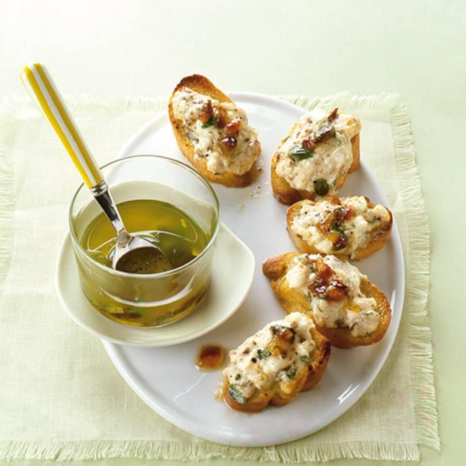 Crostini mit Ziegenkäsecreme Rezept