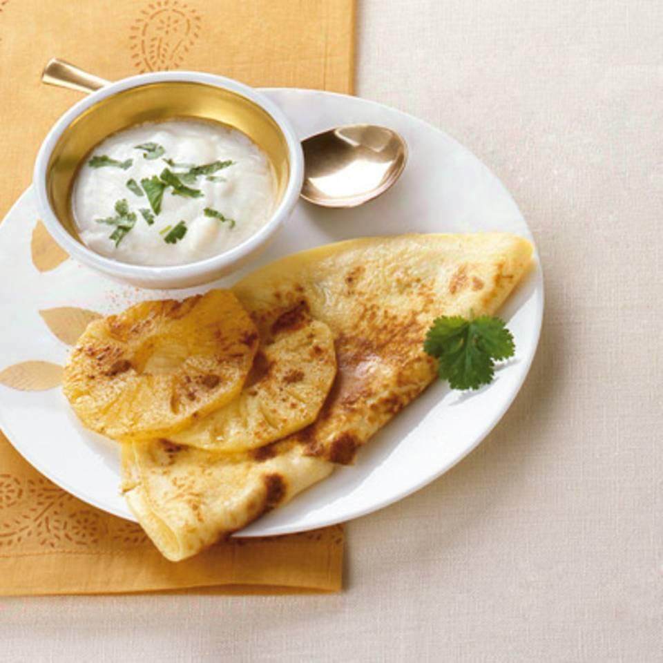 Pikante Ananas-Pfannkuchen Rezept