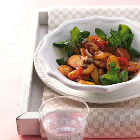 Warmer Kartoffel-Brunnenkresse-Salat