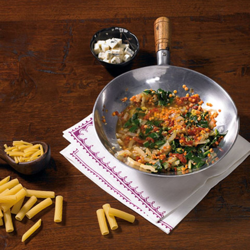 Mangold-Linsen-Sauce