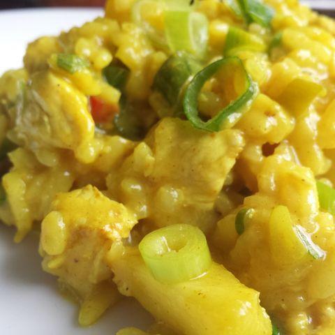 Curry-Risotto mit Hähnchen