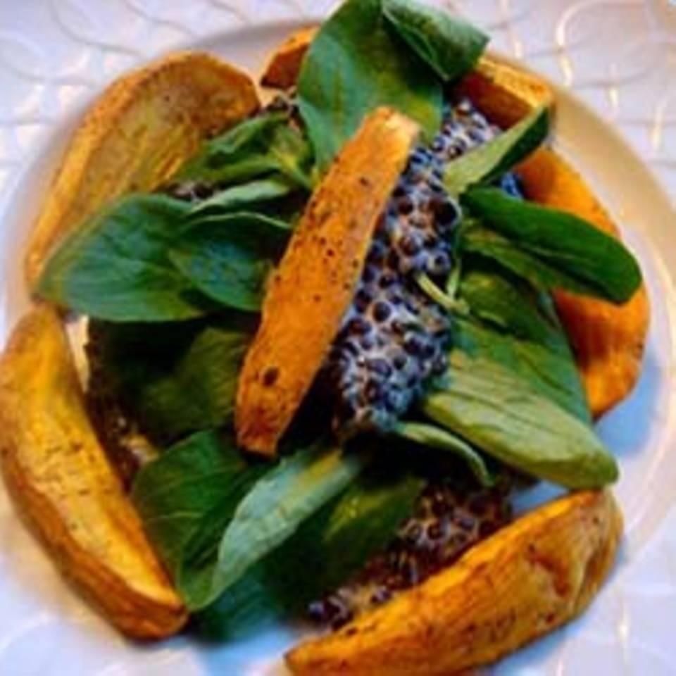 Beluga-Linsen mit Süßkartoffeln Rezept