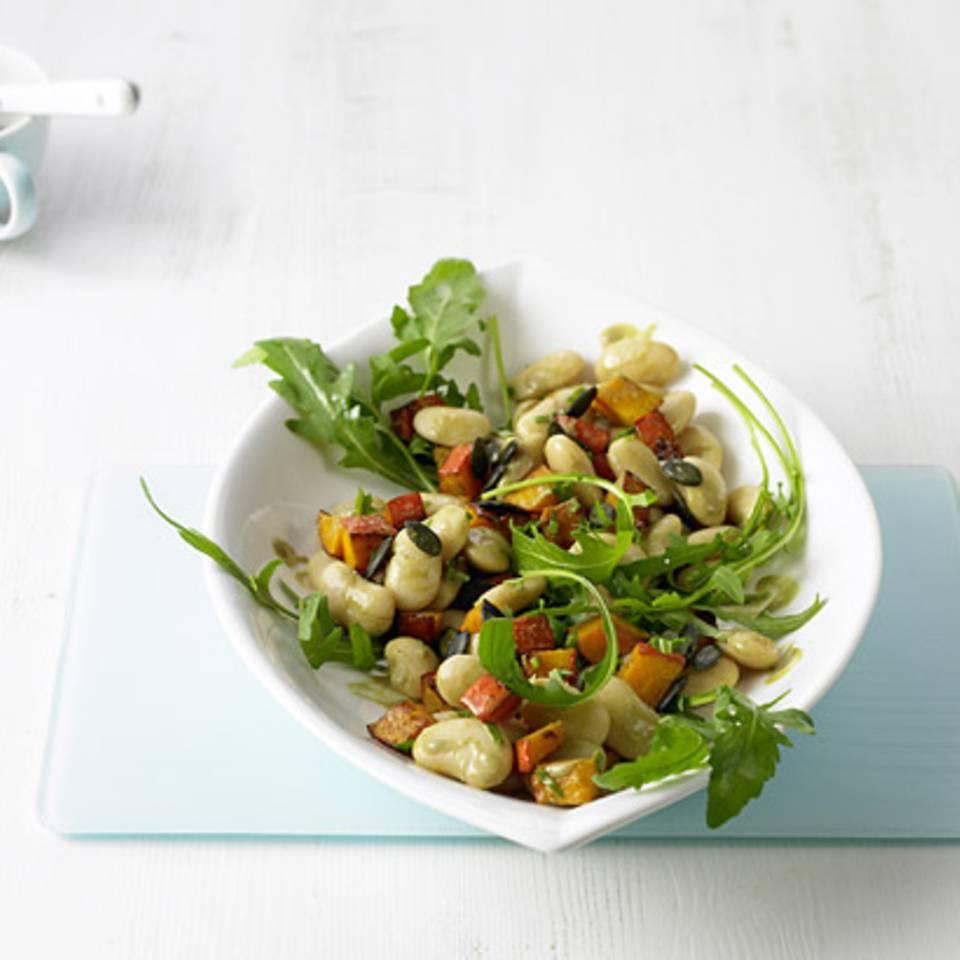 Weiße-Bohnen-Kürbis-Salat Rezept