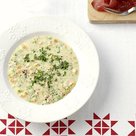 Grießsuppe mit Bündnerfleisch