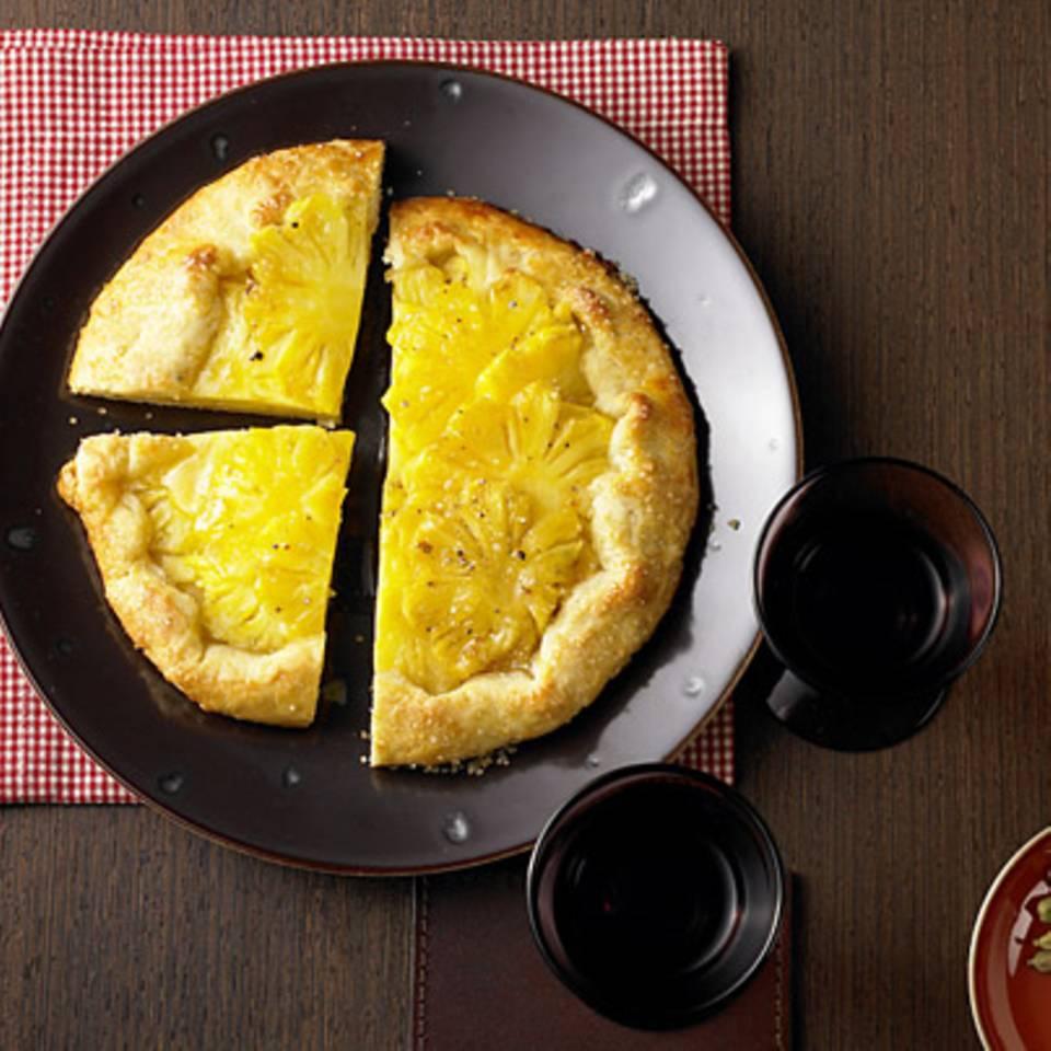 Ananas-Tarte mit Kardamom Rezept