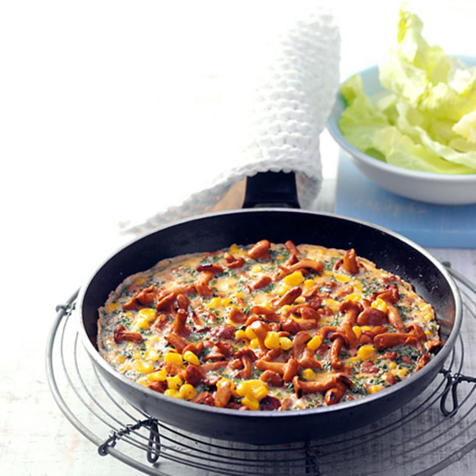 Pfifferling-Mais-Omelett