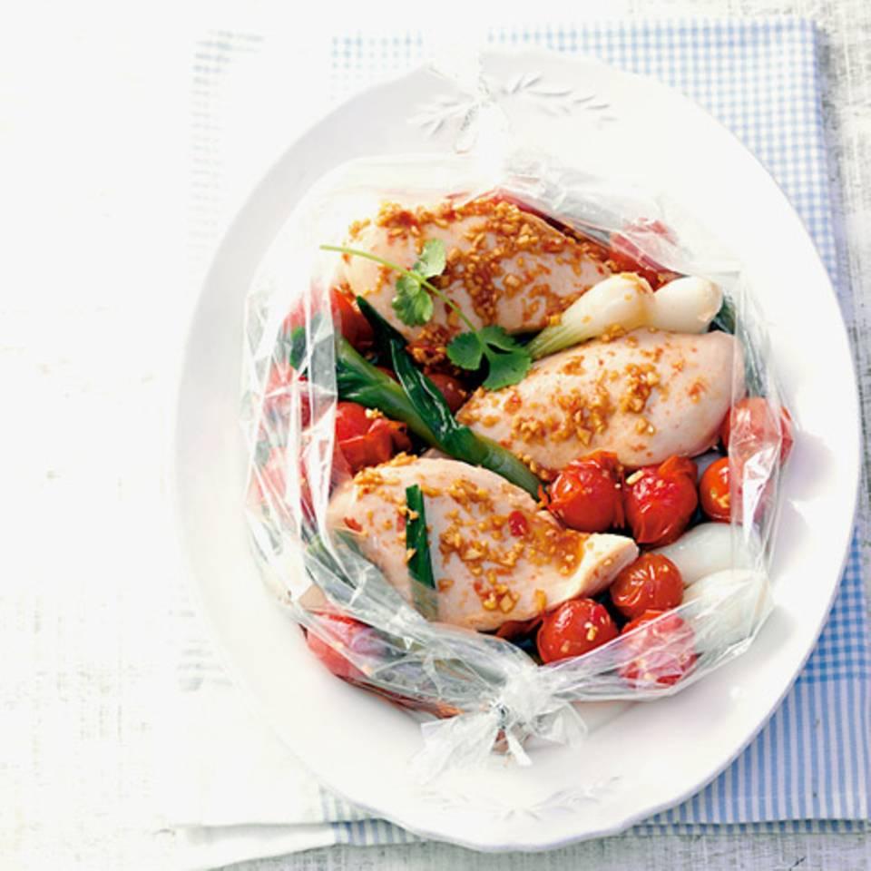 Hähnchenbrust mit Tomaten Rezept