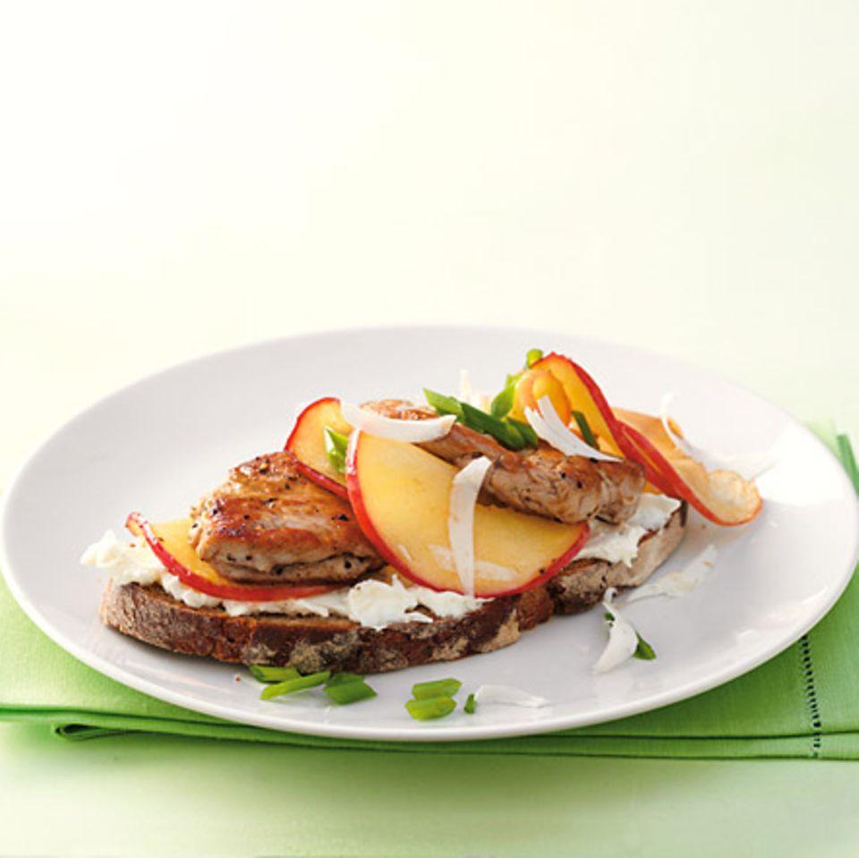 Steak-Apfel-Brot