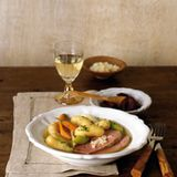 Kalbstafelspitz-Suppe mit La Ratte Kartoffeln