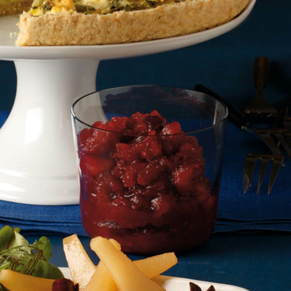 Apfel-Cranberry-Chutney