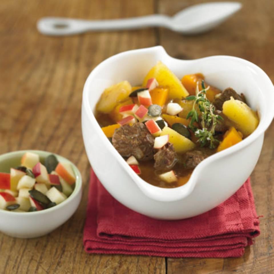 Kürbis-Rindfleisch-Eintopf Rezept