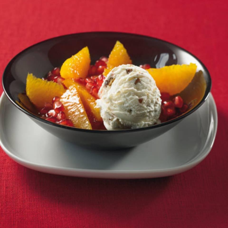 Orangensalat mit Eis Rezept