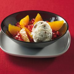 Orangensalat mit Eis