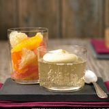 Champagner-Gelee mit Muskat-Sabayon