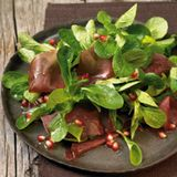 Feldsalat mit Bündner Fleisch