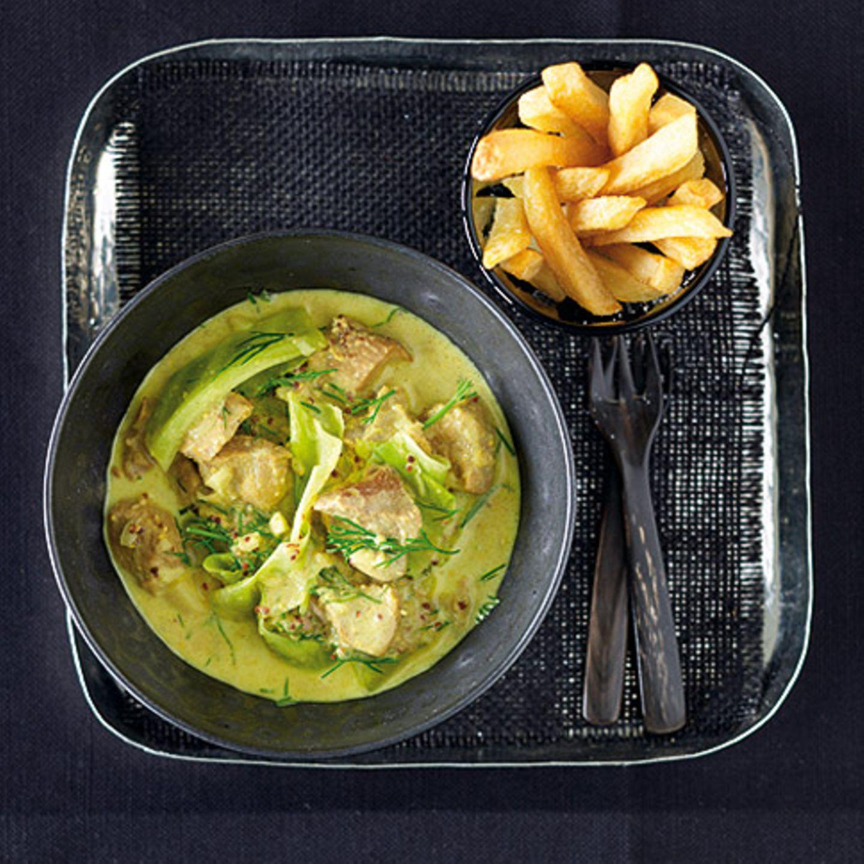Brit-Curry mit Pommes frites