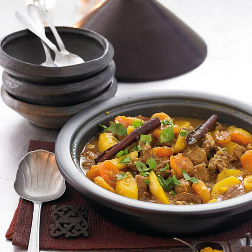 Lamm- Kartoffel-Tajine mit Safran Rezept