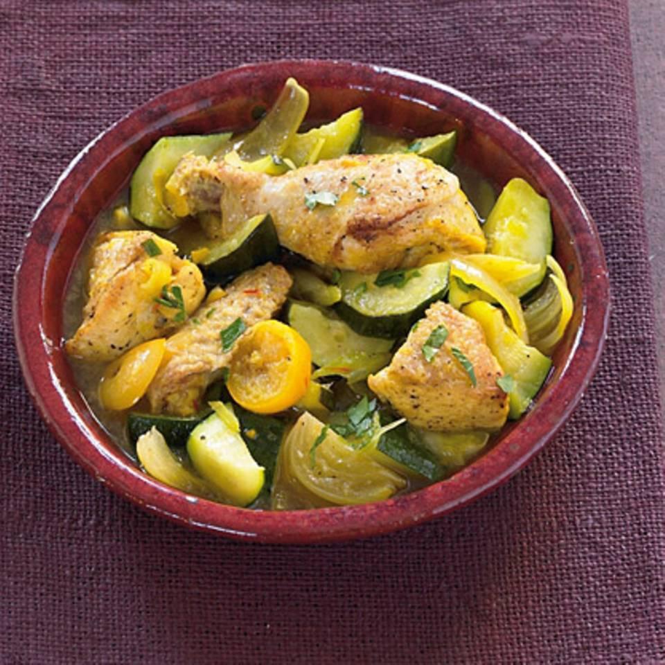 Poularden-Tajine mit Salzzitronen Rezept