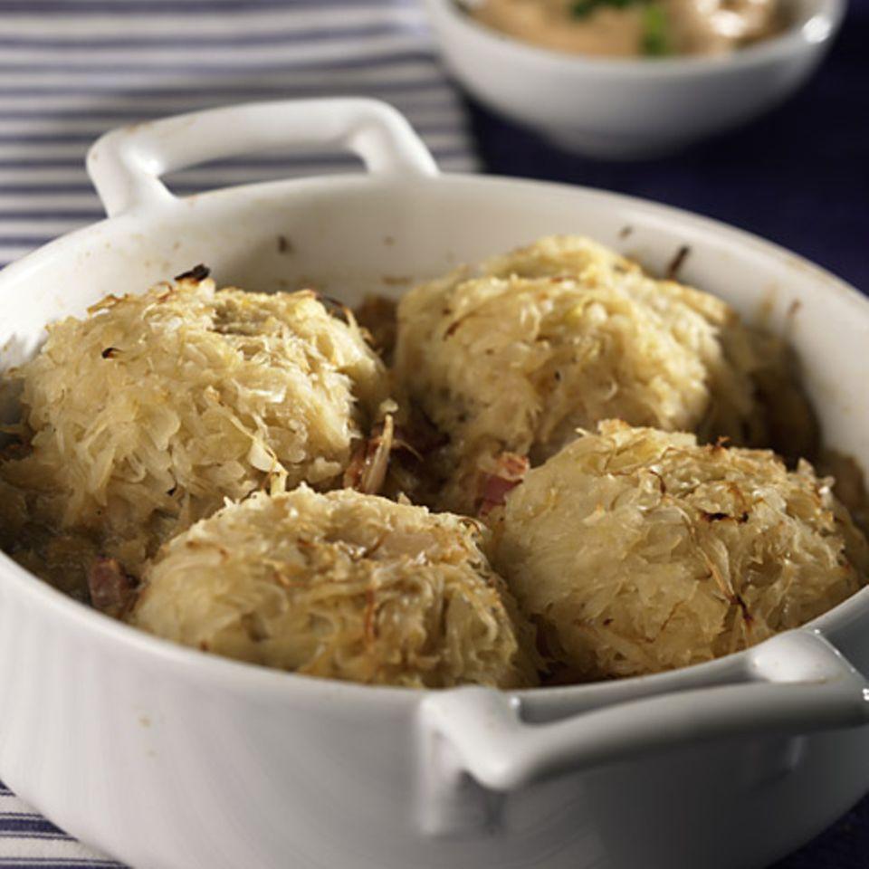 Sauerkrautbuletten aus dem Ofen