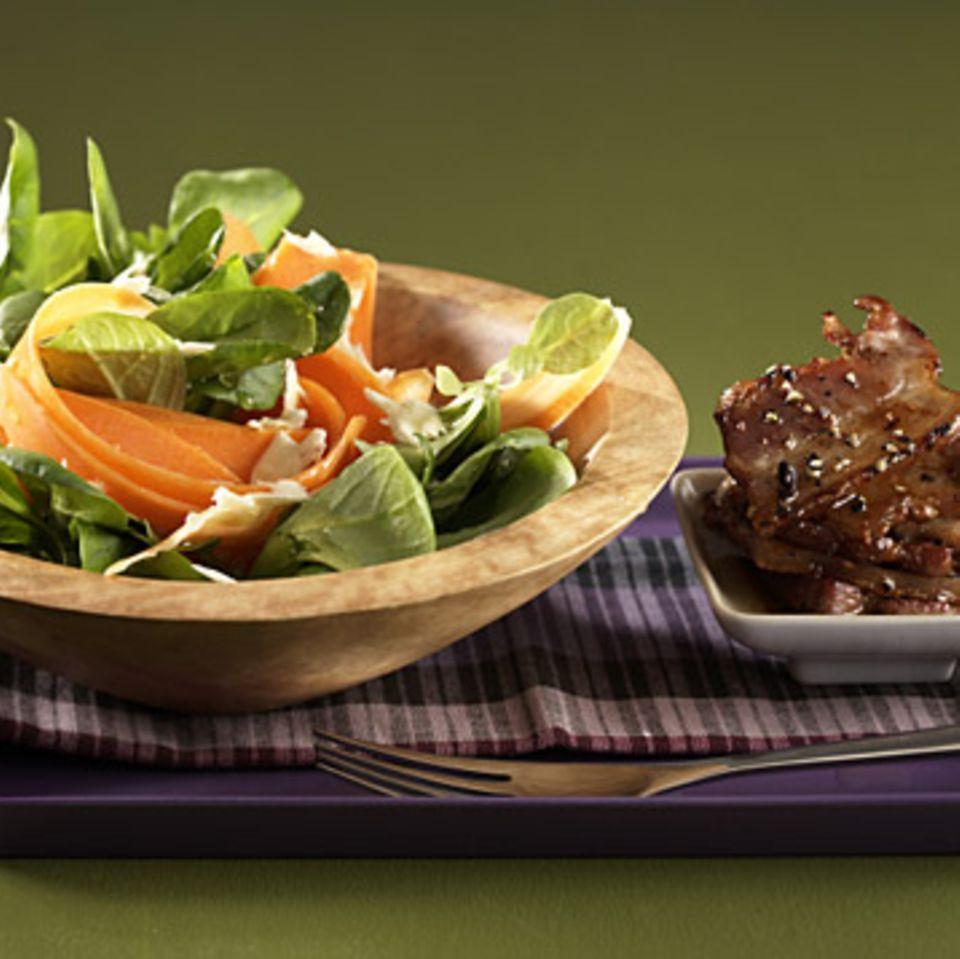 Feldsalat mit Schweinebauch