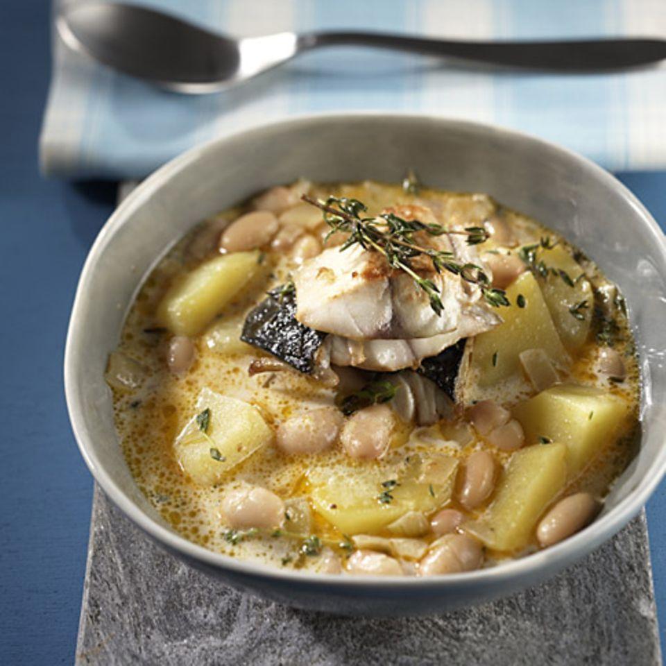 Kartoffeleintopf mit Makrele