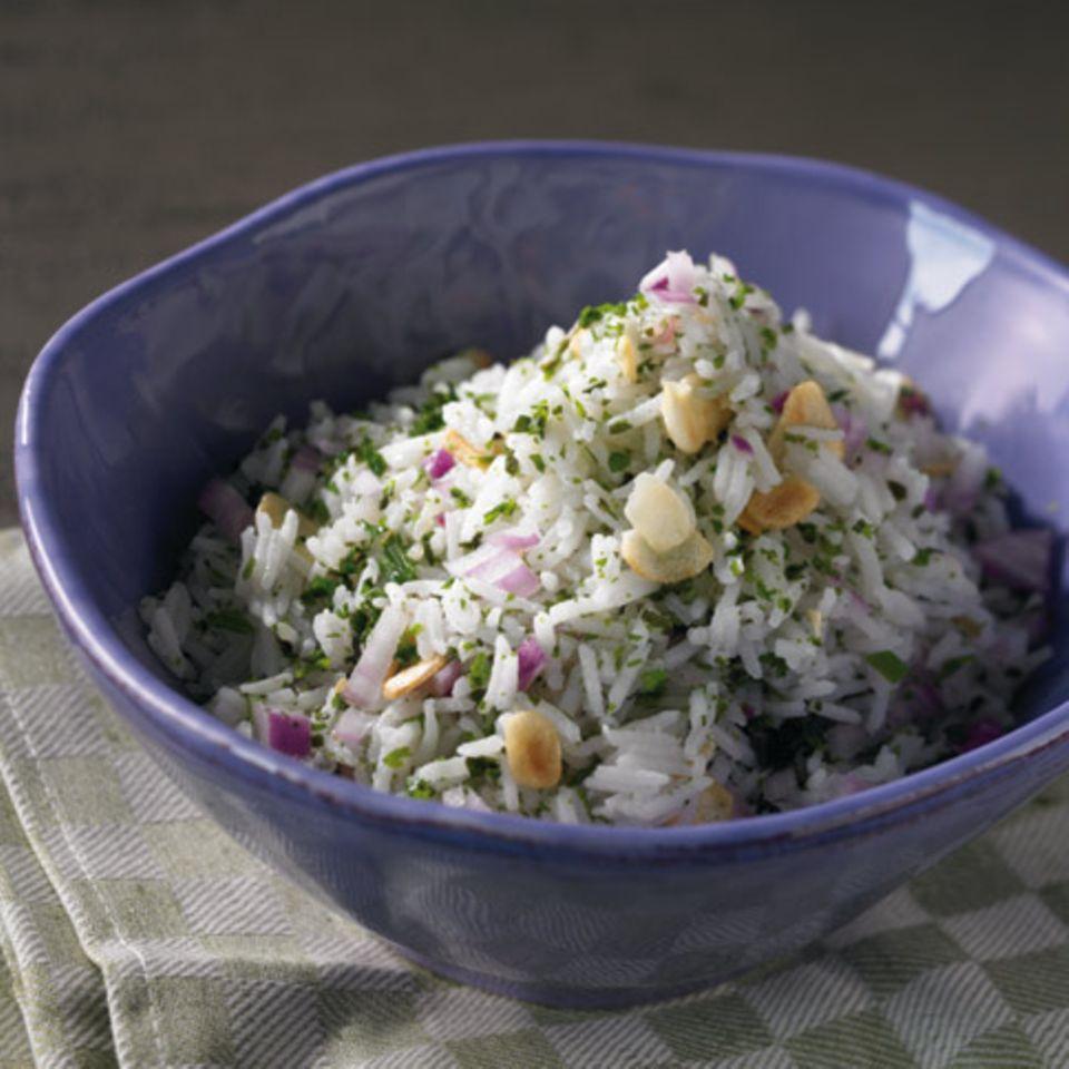Kräuter-Knoblauch-Reis