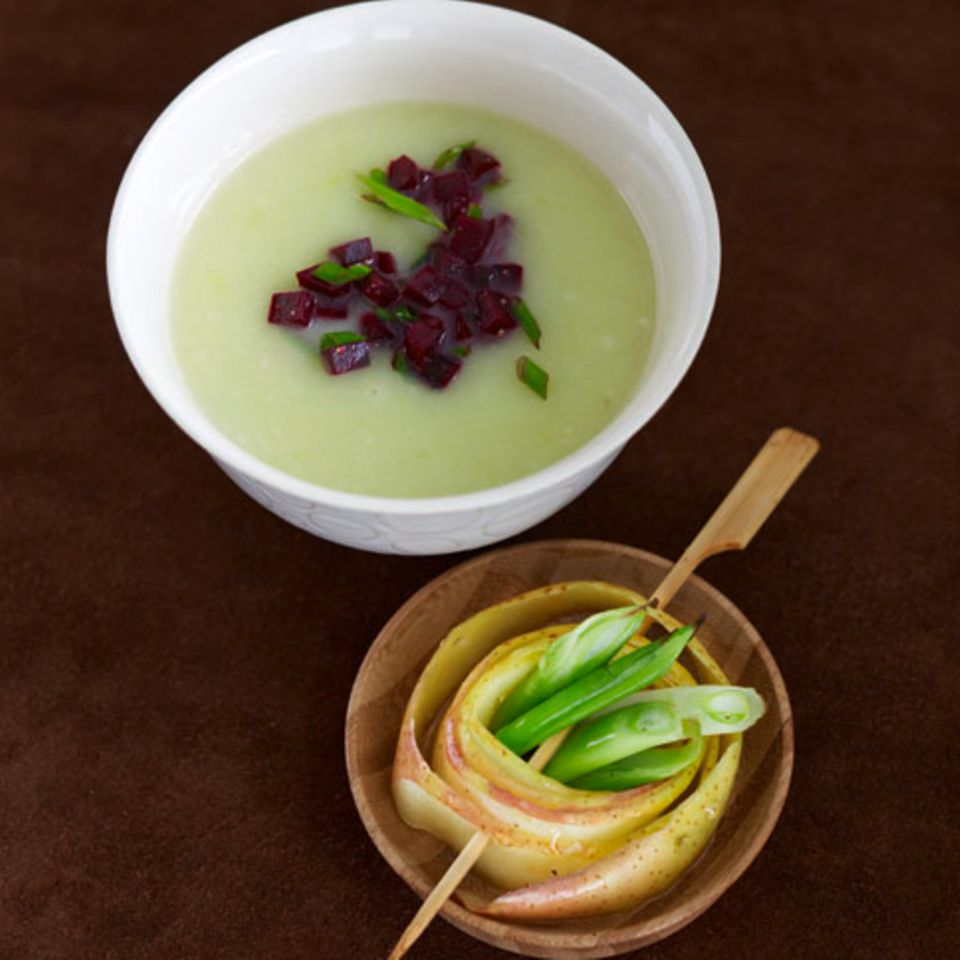 Porree-Sellerie-Suppe