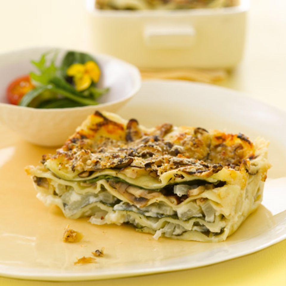 Lasagne mit Mangold und Shiitake