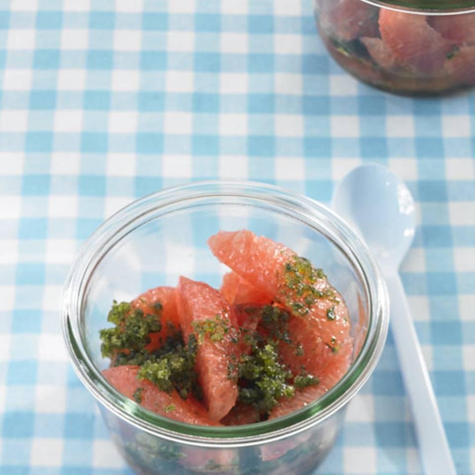 Pink Grapefruit mit Minze Rezept
