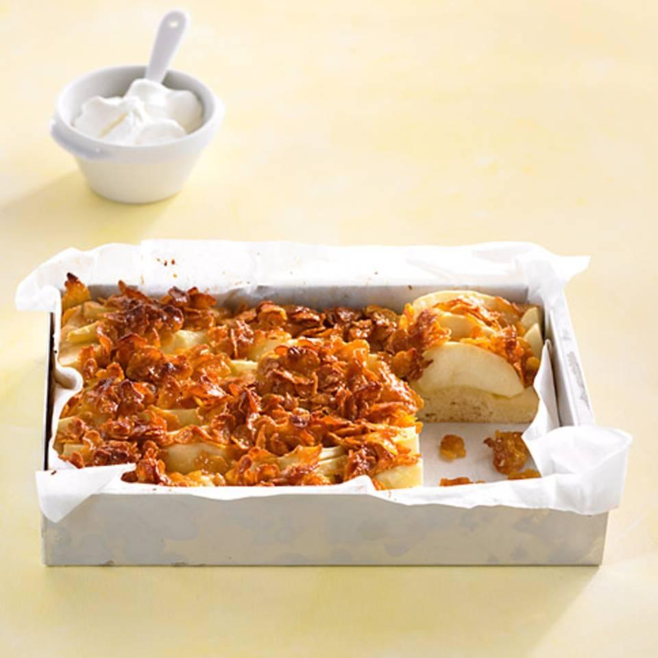 Apfel-Cornflakes-Kuchen Rezept
