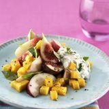 Pfirsich-Mango-Salat