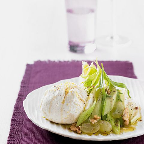 Sellerie-Trauben-Salat mit Frischkäse