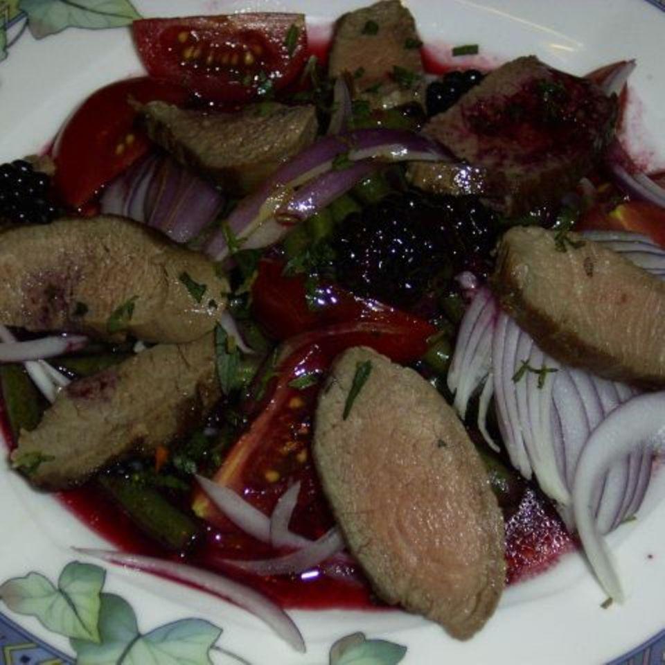 Bohnensalat mit Brombeer-Vinaigrette