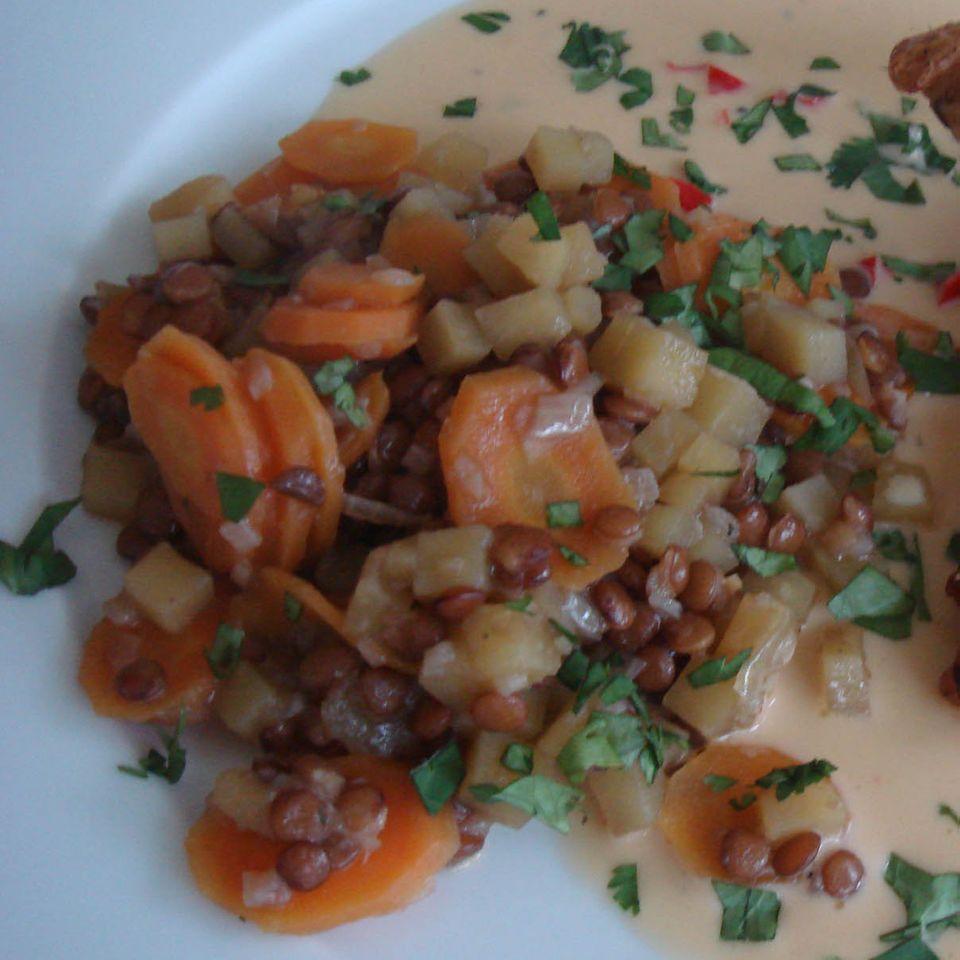 Möhren-Linsen-Gemüse