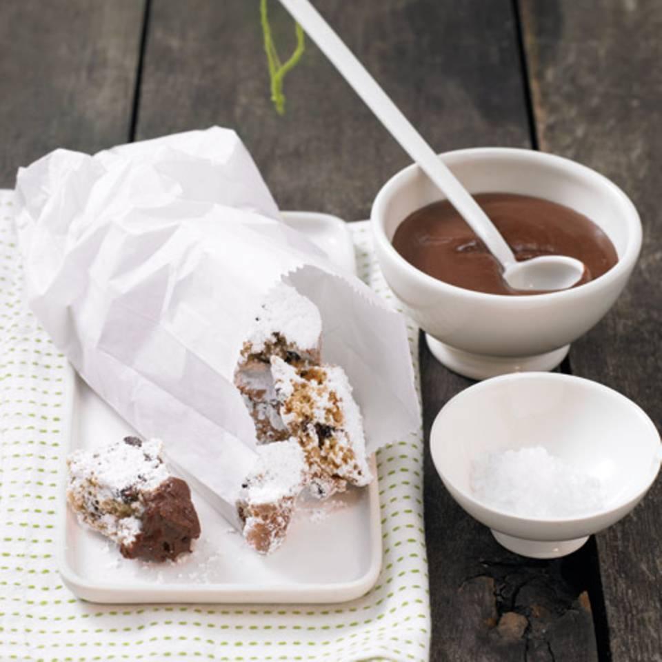 Halloren-Konfekt mit Schokoladensauce Rezept