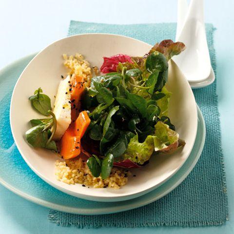 Brunnenkresse-Salat mit Papaya