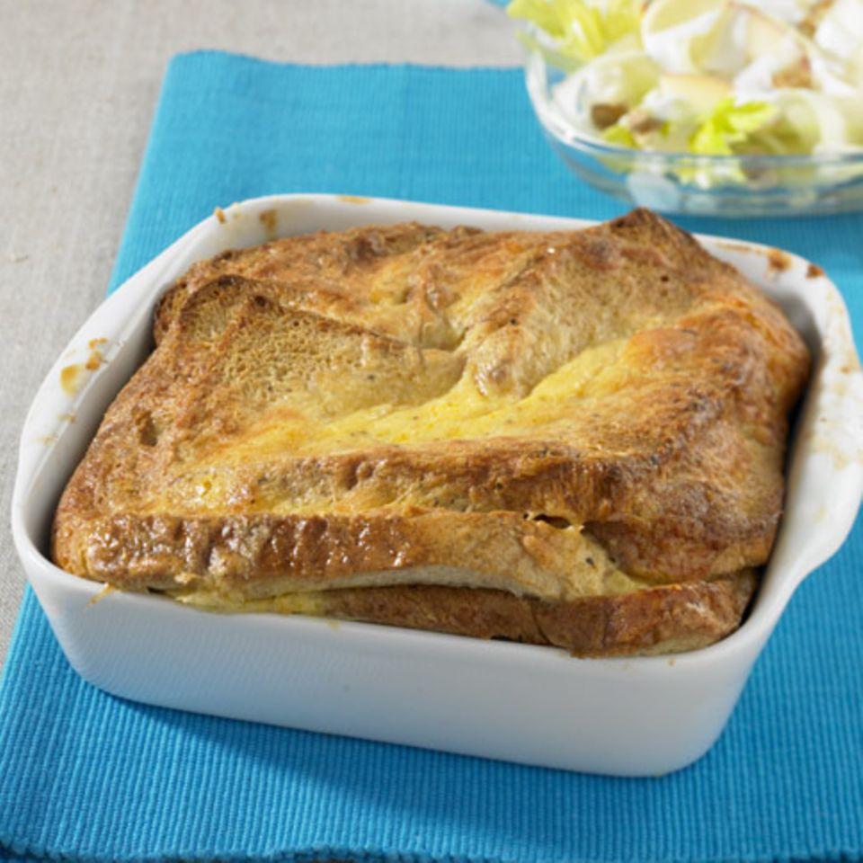 Käse-Brot-Auflauf