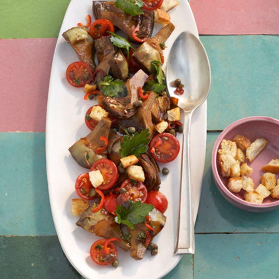 Artischocken-Brot-Salat mit Balsamico