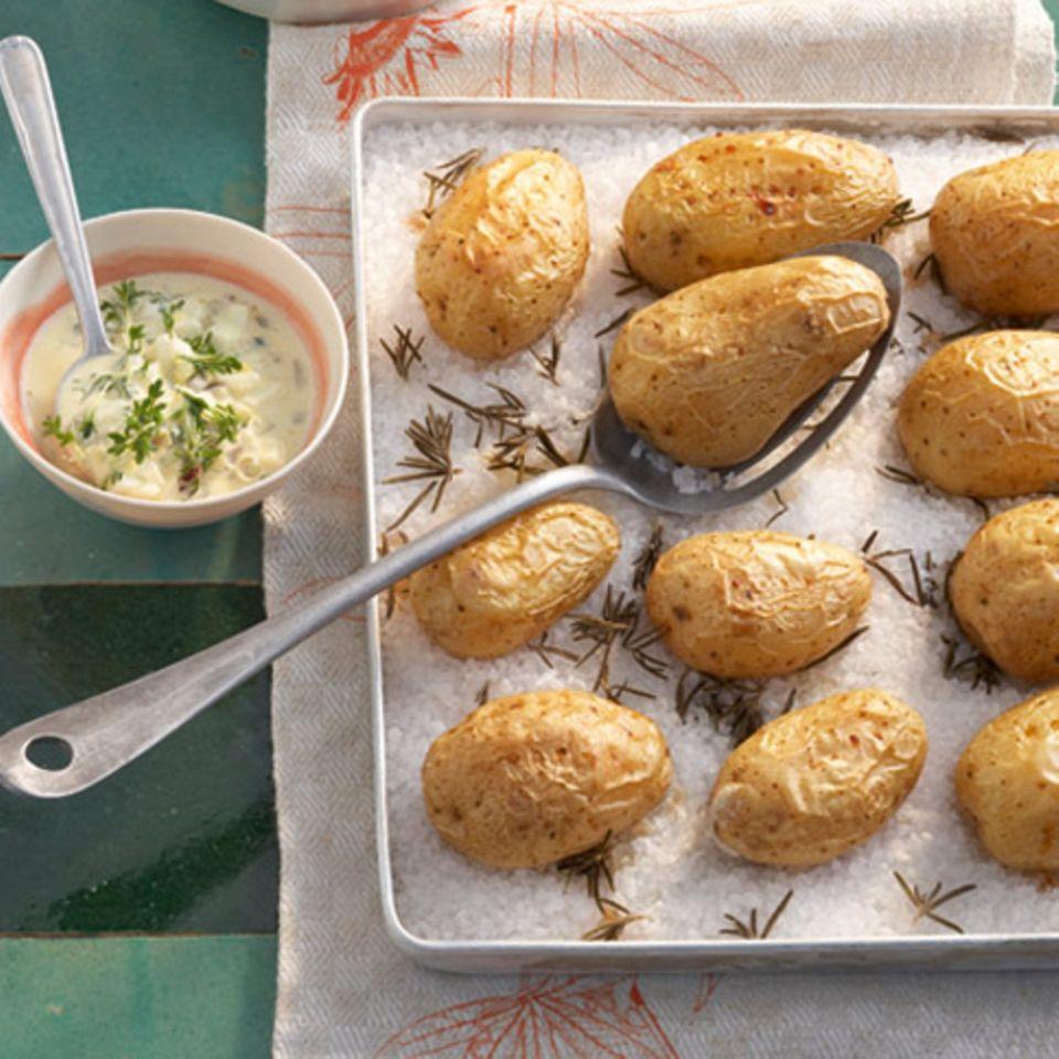 Junge Kartoffeln mit Kresse-Remoulade