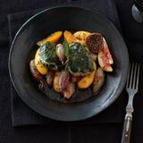 Stockfisch mit Paprika im Mangoldblatt
