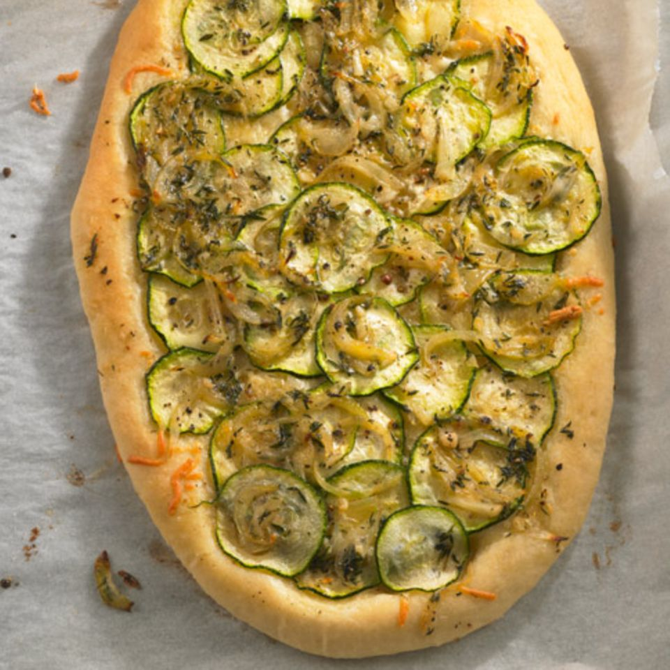 Zucchini-Pizza