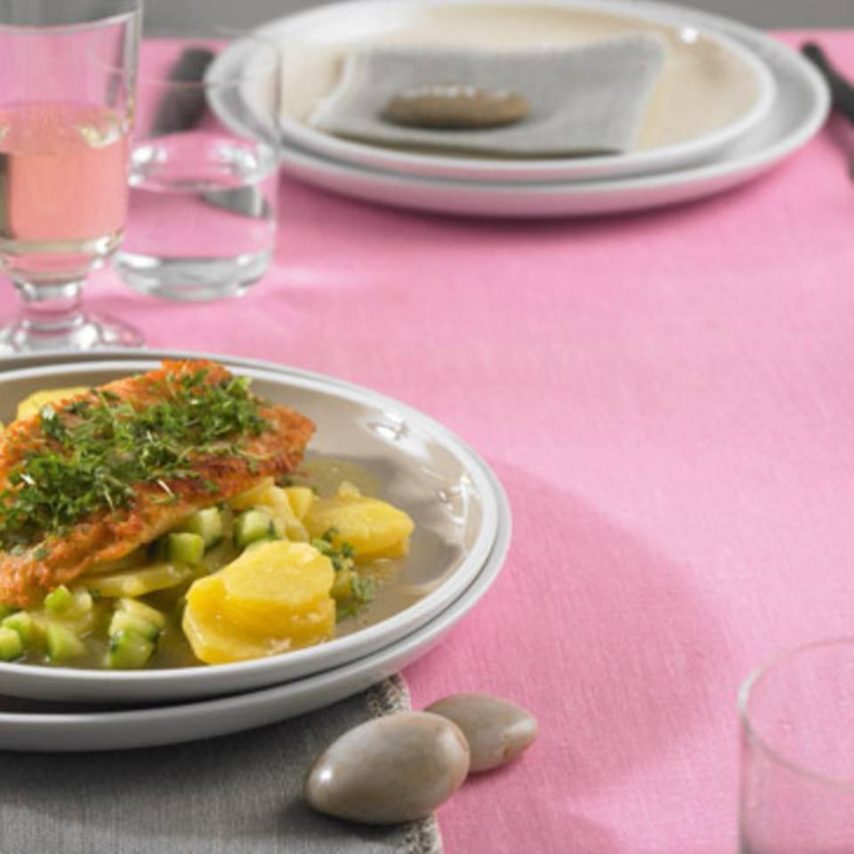 Rotbarsch mit Kartoffelsalat Rezept