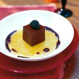 Schokowürfel mit Honig-Olivenöl-Gelee