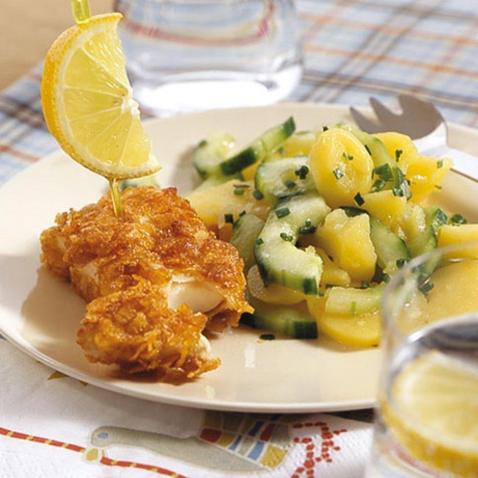 Knusperfisch mit Kartoffelsalat