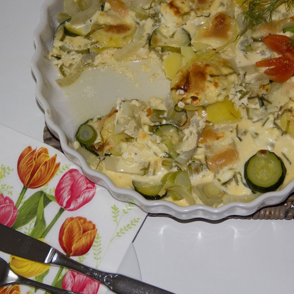 Zucchini-Fenchel-Gratin