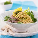 Kamut-Spaghetti mit Rinderfilet