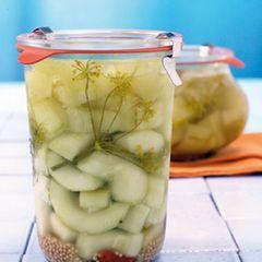 Senf-Honig-Gurken