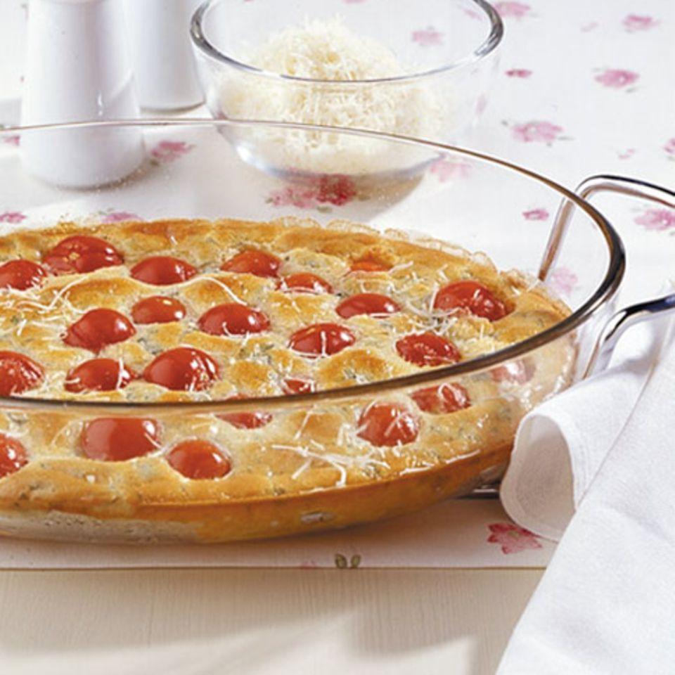 Tomaten-Clafoutis